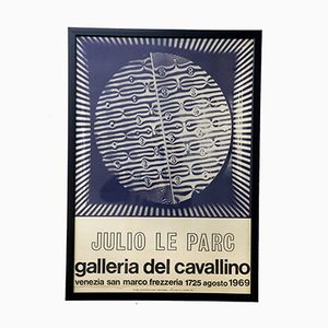 Affiche d'Exposition Julio Le Parc pour Galleria Del Cavallino, 1969