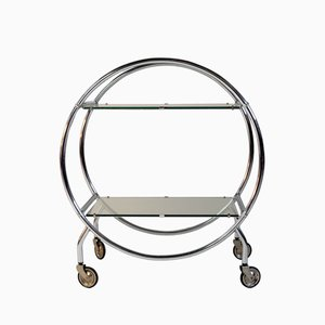 Vintage Bart Cart in Chromed Metal and Glass by Christian Duc for Duc et Camroux, 1980s