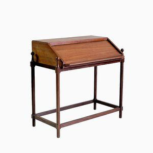 Italian Teak and Rosewood Desk by Proserpio Fratelli, 1960s