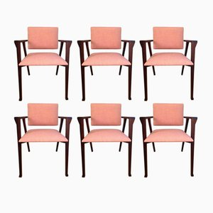 Italian Luisa Rosewood Dining Chairs by Franco Albini for Poggi, 1950s, Set of 6
