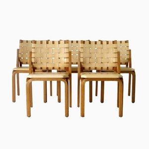 Model 612 Y-Chairs by Alvar Aalto for Artek, 1950s, Set of 5