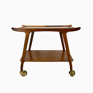 Vintage Danish Teak Bar Trolley, 1960s