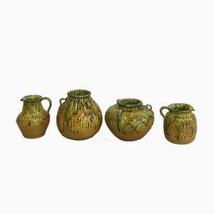 Glasierte Italienische Vintage Krüge und Vasen, 1960er, 4er Set