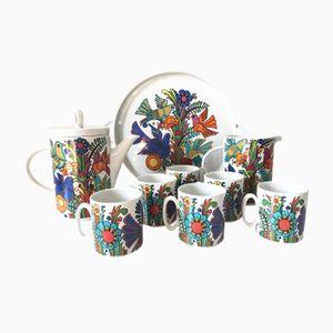 Vintage Porcelain Coffee Set from Villeroy & Boch, 1970s