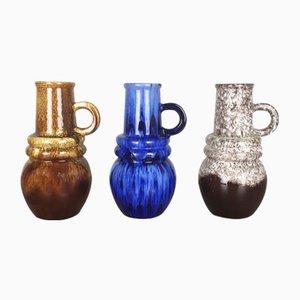 Vintage Fat Lava Vienna Vasen von Scheurich, 1970er, 3er Set
