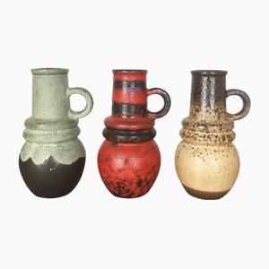 Vases Fat Lava Vienna Vintage de Scheurich, 1970s, Set de 3