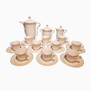 Art Deco Porcelain Limoges Coffee Service Set from Bernardaud, 1930s