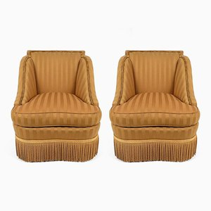 Fringe Lounge Chairs, 1940s, Set of 2