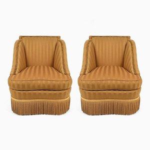 Fringe Lounge Chairs, 1940s, Set of 2