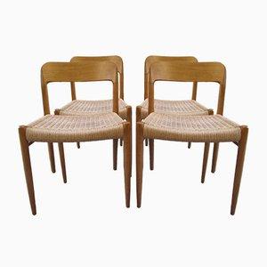 Chaises No. 75 par Niels Otto Møller pour J.L. Møllers, 1950s, Set de 4
