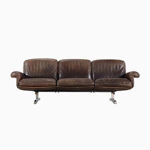 DS 31 Sofa aus Leder mit 3 Sitzen von de Sede, 1975