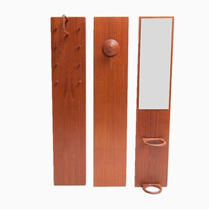 Vintage Teak Coat Racks by Aksel Kjersgaard, Set of 3