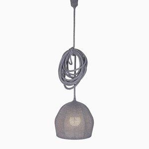 Lampe Ray Light Mouse en Laine Mérinos Grise Tricotée par LLOT LLOV