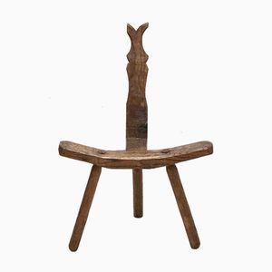 Mid-Century Brutalist Spanish Side Chair, 1960s