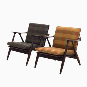 Dutch Teak Easy Chairs by De Ster Gelderland, 1960s, Set of 2
