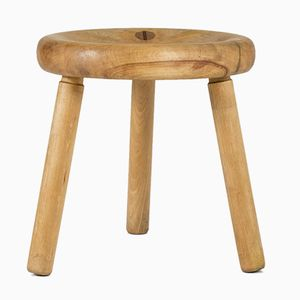 Oak Stool by Bertel Gardberg, 1960s