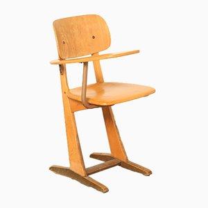 Vintage Stuhl für Schulbank von Carl Sesse für Casala