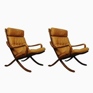 Vintage Siesta Lounge Chairs by Ingmar Relling for Westnofa, Set of 2