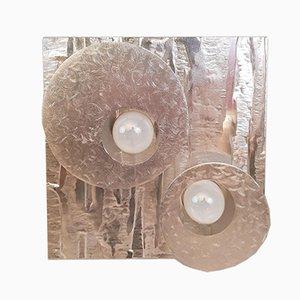 Aluminum Wall Light from LUMALUX 2000, 1970s
