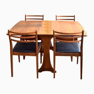 Mid-Century Dining Table & Chair Set from G-Plan, 1960s