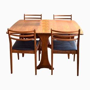 Tavolo da pranzo Mid-Century con sedie di G-Plan, anni '60, set di 5