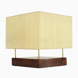 Italienische Art Déco Lampe aus Messing und Dornbuschholz, 1930er