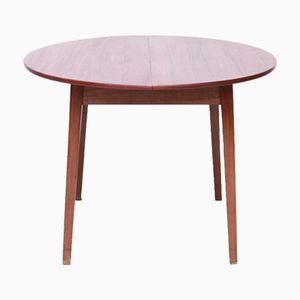 Round Dining Room Table in Teak, 1960s