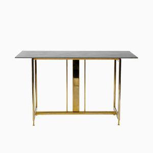 Hollywood Regency Brass and Ceramic Desk