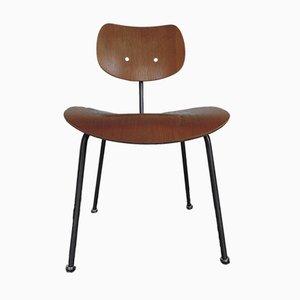 Vintage Walnut Veneer Chair by Egon Eiermann for Wilde & Spieth, 1960s