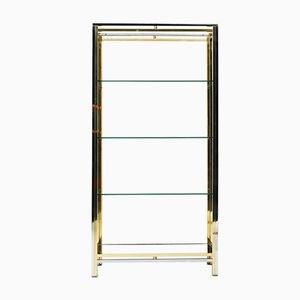Vintage Brass and Chrome Shelves by Romeo Rega