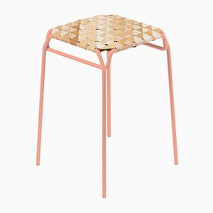 Short Pastel Pink Taburet Bar Stool by Anastasiya Koshcheeva for Moya