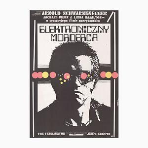 Poster vintage del film Terminator di Jakub Erol per POLFILM, 1987