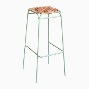 Pastel Green Taburet Bar Stool by Anastasiya Koshcheeva for Moya