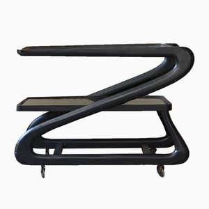 Black Serving Trolley by Cesare Lacca, 1960s