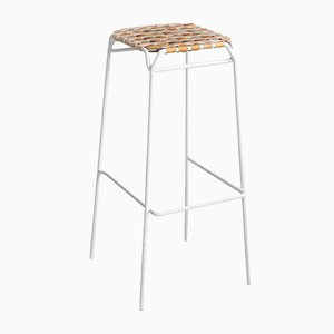White Taburet Bar Stool by Anastasiya Koshcheeva for Moya