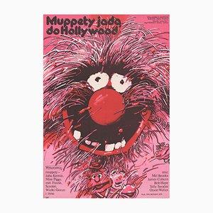 Poster vintage del film Ecco il film dei Muppet di Waldemar Swierzy per XRF, Polonia, 1982