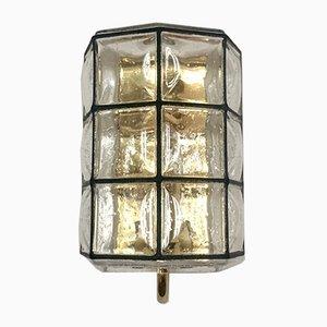 Brass Wall Lamp from Glashütte Limburg, 1960s