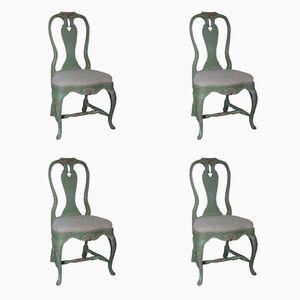 Sedie in stile gustaviano, Svezia, set di 4