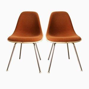 Vintage Stühle in Braun von Charles & Ray Eames für Herman Miller, 2er Set