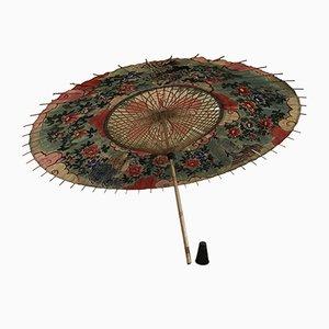 Japanischer Vintage Schirm aus Reispapier