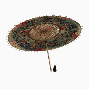Vintage Japanese Rice Paper Umbrella