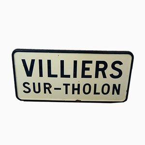 Panneau de Ville Vintage en Email, France