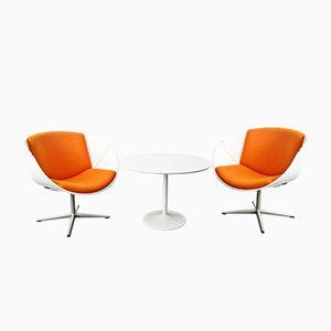 Vintage Schalen Stühle mit Tulpenfuß Tisch