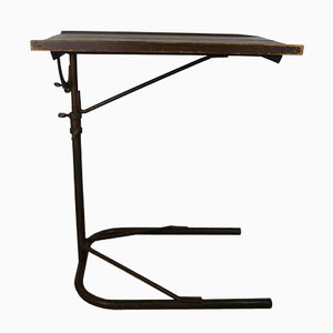Vintage Industrial Bauhaus Style Rotating and Swiveling Side Table, 1920s