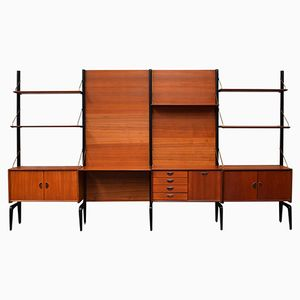 Teak Shelving Unit by Louis van Teeffelen for WéBé, 1960s