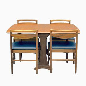 Tavolo e sedie da pranzo di G-Plan & McIntosh, anni '60, set di 4