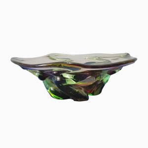 Murano Glass Centerpiece in Shades of Green, 1960s
