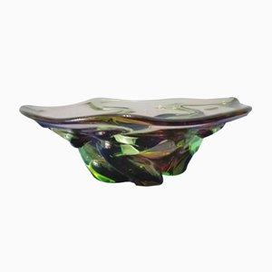 Schale aus Murano Glas in Verschiedenen Grüntönen, 1960er
