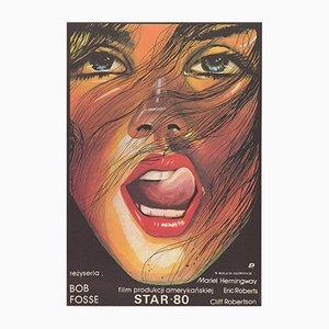 Poster vintage del film Star 80 di Maciej Woltman per POLFILM, Polonia, 1984