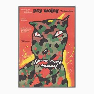 Poster vintage del film I mastini della guerra di Waldermar Swierzy, Polonia, 1984
